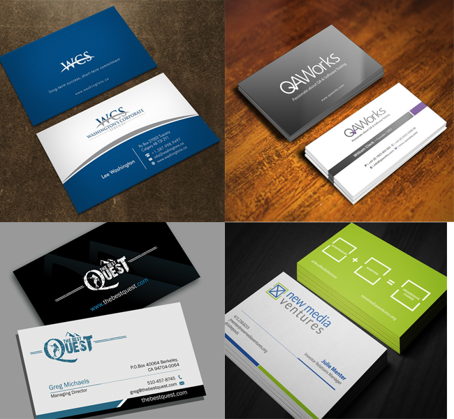 19 creative business card designs from 99designs reheart Gallery