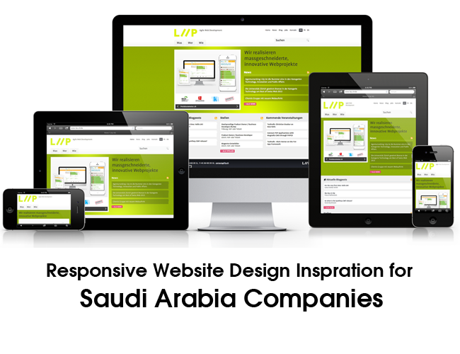 Responsive Website Design Inspration for Saudi Arabia Companies