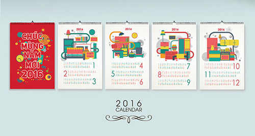 Wall Calendar Graphic Design : Best calendar designs for inspiration in saudi arabia