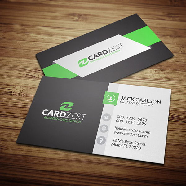 green-black-color-business-card-jeddah