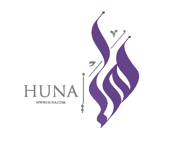 huna-arabic-word-calligraphy-logo-free-download