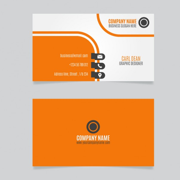 orange-color-business-card-design