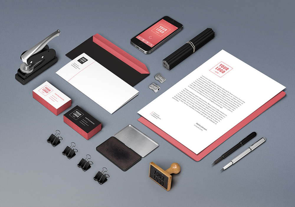 red-color-stationery-design-in-saudi-arabia