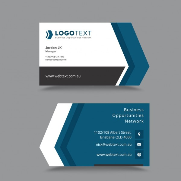 Business Card Design Inspiration For Saudi Business - Calling card template free download