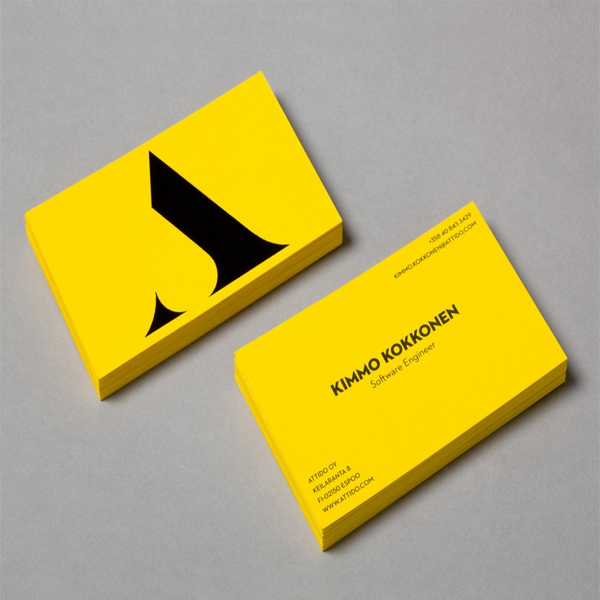 Yellow Business Card Sample