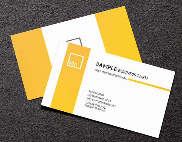 yellow-white-color-business-card