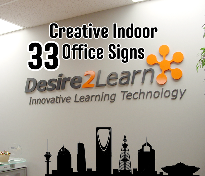 33+ Creative Indoor Office Signs Ideas for Saudi Companies
