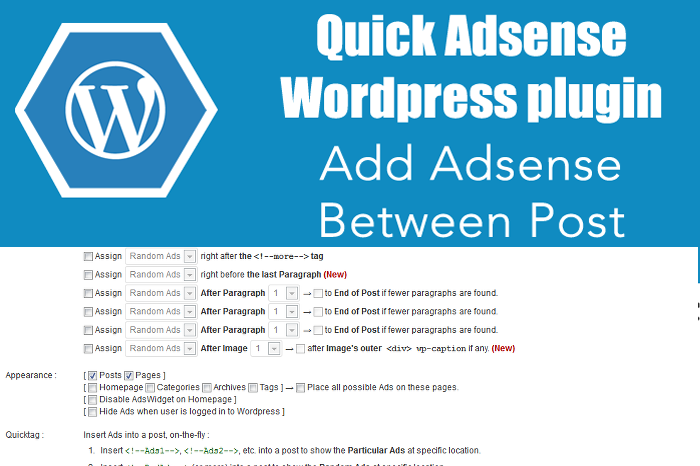 Quick-Adsense-wordpress-plugin