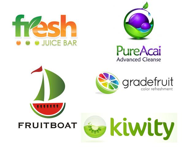 20 creative fruit logo designs for inspiration in saudi arabia for Design lago